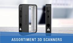 assortiment 3D scanners